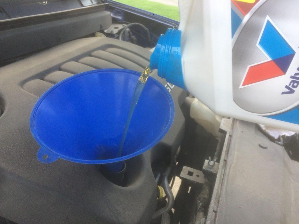 Vehicle maintenance - oil change