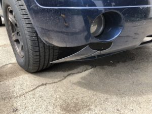 broken bumper